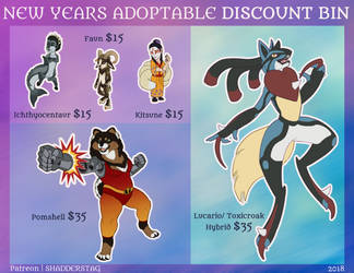 Discounted Adoptables: $15 - $35 (OPEN 3/5) by ShadderStag