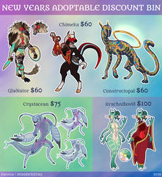 Discounted Adoptables: $60 - $100 (OPEN 4/5) by ShadderStag
