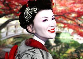 Geisha Kioko by Tikiman-3d