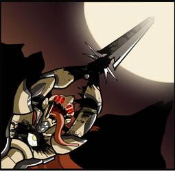 Blight Knight Nova Blast by bogmonster