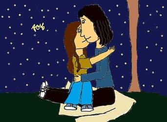 Brian and Chrissie's first kiss by AndressaNerdMuniz
