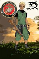 US Military Vietnam Era Marine by Taiya001