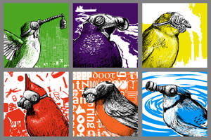 Trash Birds by azraelengel