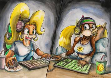 Gamer Girls by SoulEaterSaku90