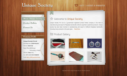 Unique Society Nepal homepage by webdeviant