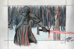 The Dark Side-Star Wars The Force Awakens by CristianGarro