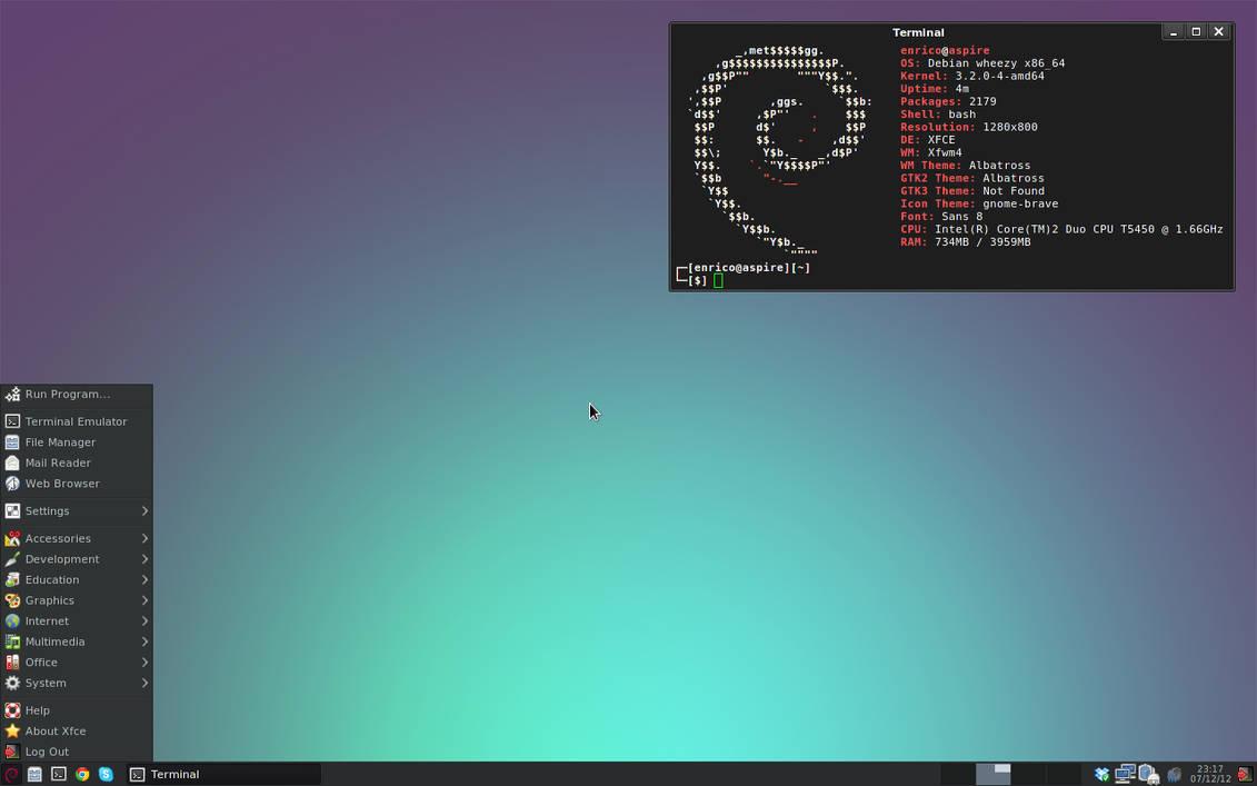 [Debian] [Xfce] A very simple setup by rent0n86