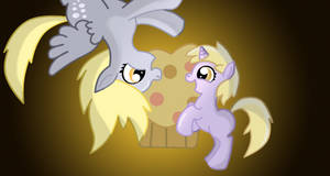 Derpy and Dinky by Zag91