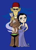 Ardath Bey and Helen by belledee