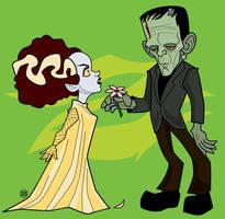 Frankenstein's Creature and Bride by belledee