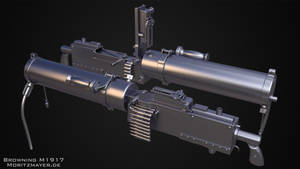 Browning M1917 Highpoly by Kn3chtRuprecht