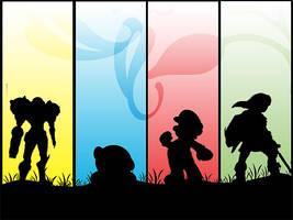 Nintendo Silhouette by leon433
