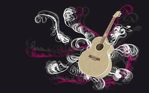 wallpaper- guitar -widescreen by Downofthepheonix