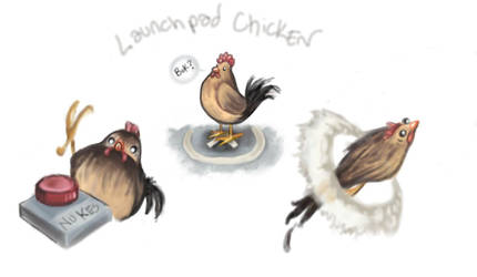 Launchpad chicken ! by reneedicherri