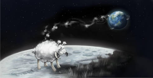 Moon Sheep by reneedicherri