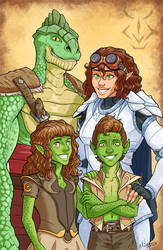 Dungeons and Dragons Family Portrait by Lunapocalypse