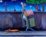 Deep sleepwalking the dog by marcelflisiuk