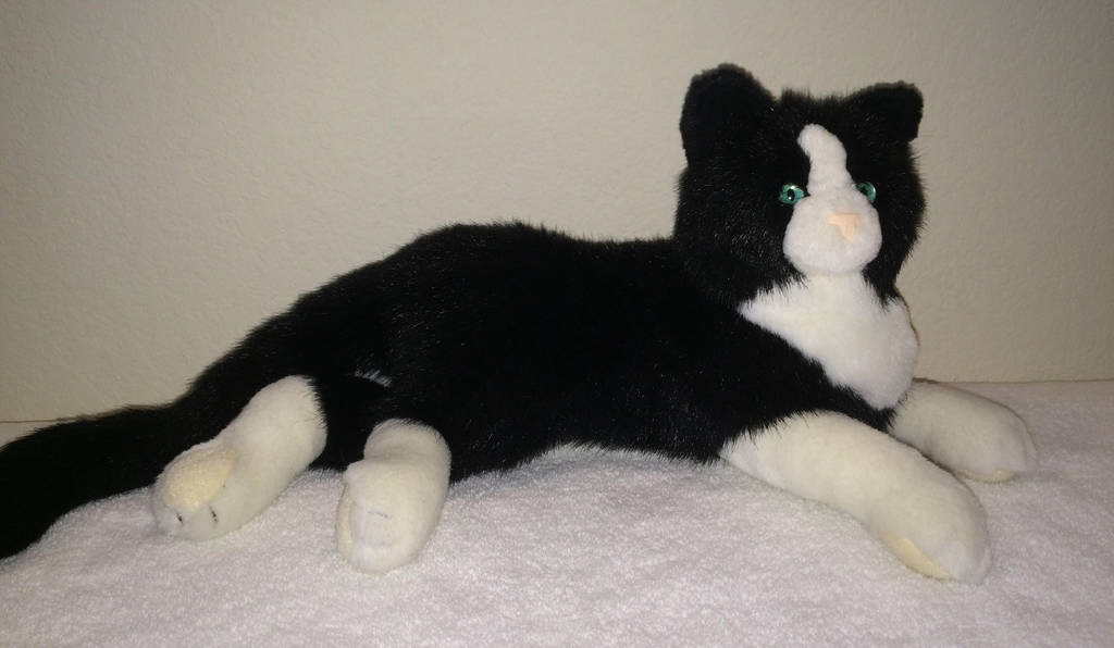 Douglas Cuddle Toys Collette Black And White Cat By