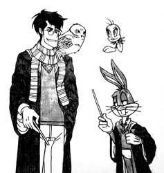 Hogwarts Meets Looney Tunes by 2gredvisions