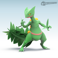 Sceptile Smashified by Zesiul
