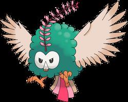 Rowlnivosa (Rowlet evolution prediction) by ubasuteyama