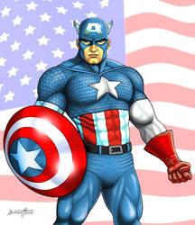 Captain America by barneybluepants