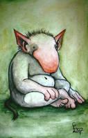 Sitting troll by chricko