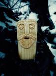Bearded wooden man by chricko