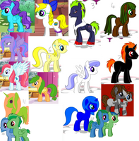 Free Adoptables Sheet 2 ALL GONE by SeraphineFrost
