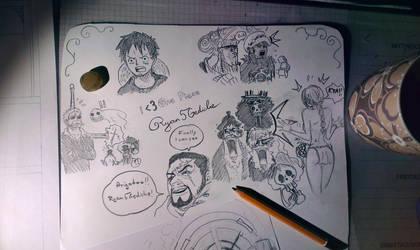One Piece Sketch by Ryan5Gediche
