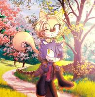 Akane y Deinel by Irma09