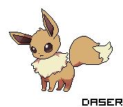 Evoli Eevee Pokemon Pixel Art By Daserisation On Deviantart