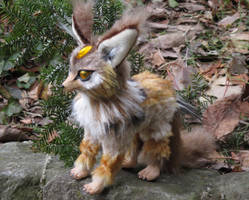 SOLD - Fantasy Fox Lemur Art Doll by Lufirel
