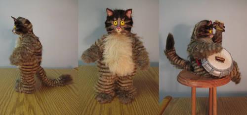 Cartoon Cat Art Doll 2 by Lufirel