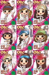 SNSD Oh CHIBI complete by squeegool