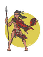 igorot warrior by squeegool