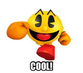 Pacman saying COOL! by Graymonsuta