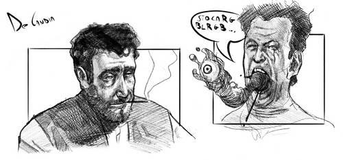 Creepy Sketches #1 by TheDarkManus