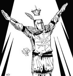 Solaire and the crown by ales-bowie
