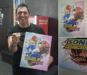 Johnny Gioeli signed my painting! by TheScarecrowOfNorway