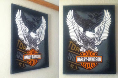 Harley-Davidson Motor Cycles painting by TheScarecrowOfNorway