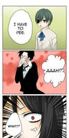 Kuro - Bocchan's peeing by Fuugen