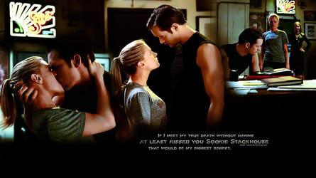 Eric and Sookie - The Kiss by hazelxxx