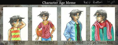 Character Age Meme: Heiji Hattori by Itzia