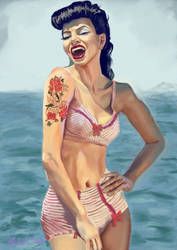 Rockabilly Bikini by rustproof