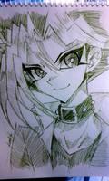 Yugi Mutou Rough Sketch by KaZaAShaMiKo