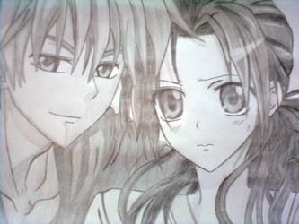 Misaki and Usui by kokomirai