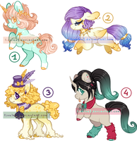 [CLOSED] Pony Adoptable Batch 09 by Tinuleaf-Adopts