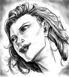 Woman sketch by jinchuarikisfury