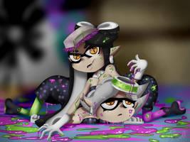 Squid Sister Love - Callie and Marie by Poka-SorM